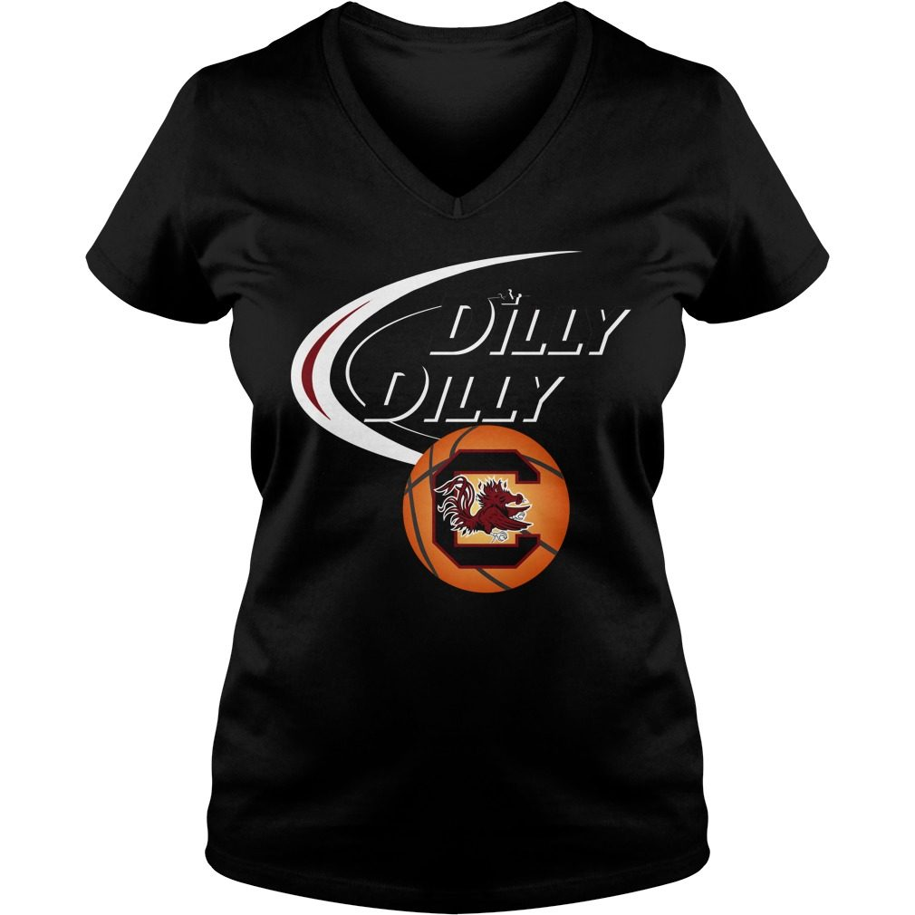 Dilly Dilly South Carolina Ncaa Basketball V Neck T Shirt