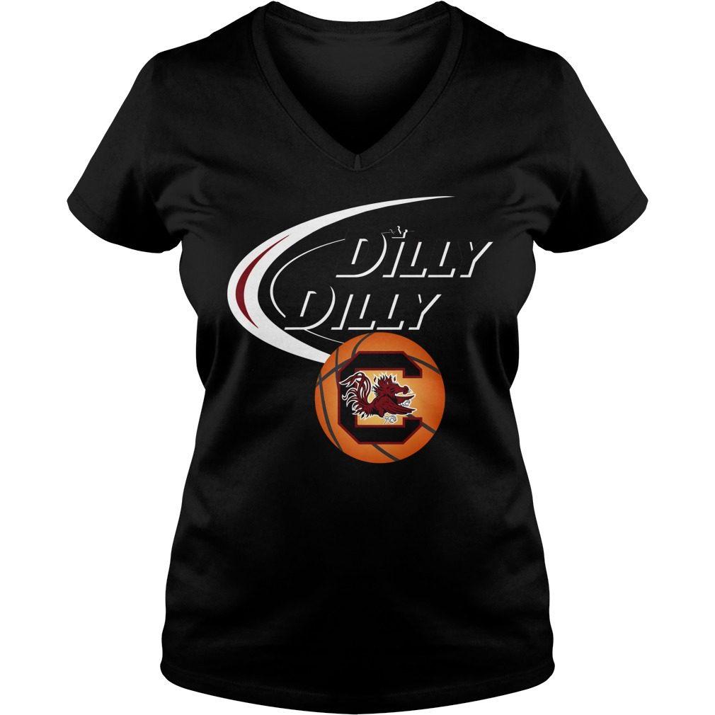 Dilly Dilly South Carolina Ncaa Basketball V Neck T Shirt