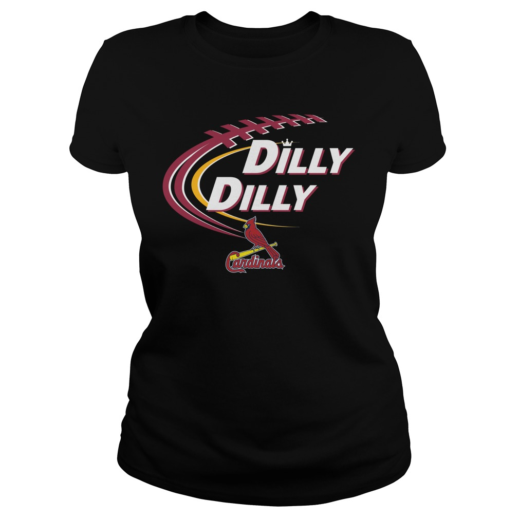 Dilly Dilly St Louis Cardinals Bud Light Mlb Baseball Ladies Tee