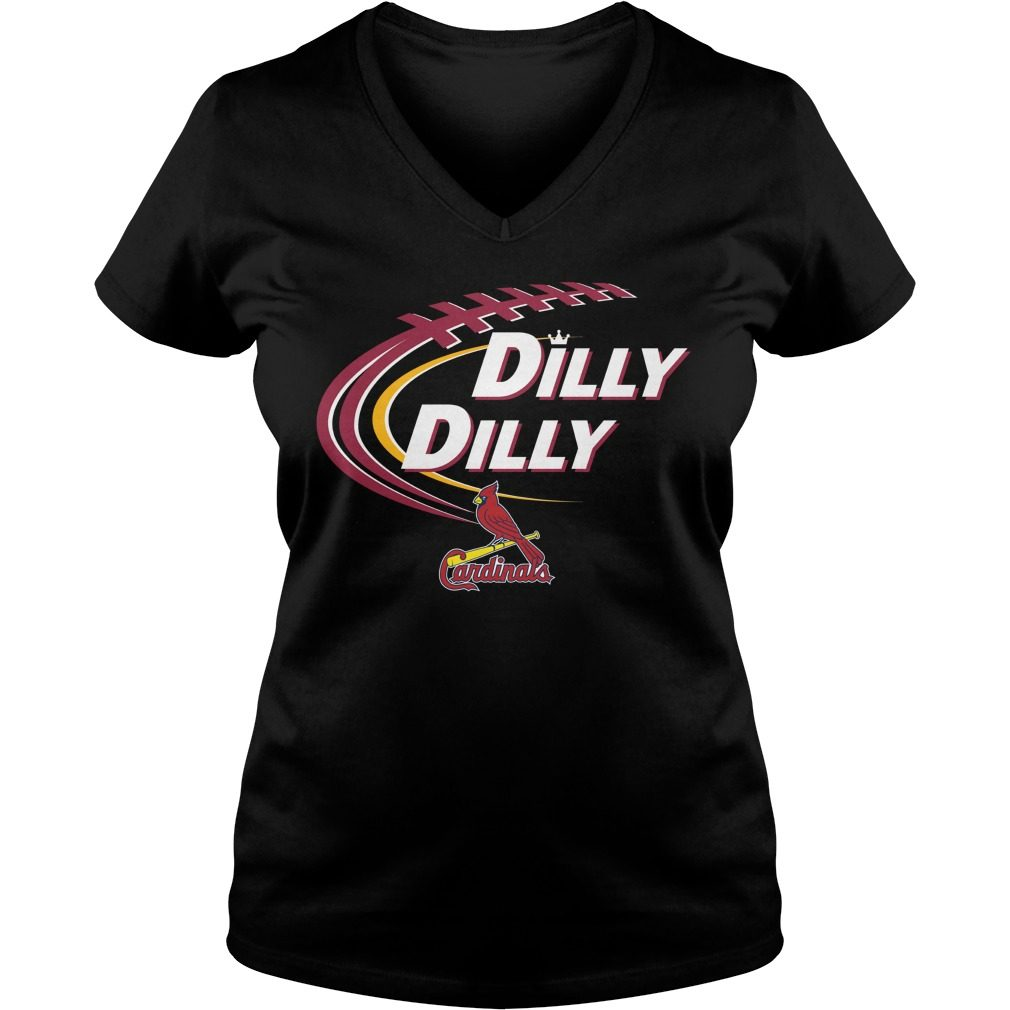 Dilly Dilly St Louis Cardinals Bud Light Mlb Baseball V Neck T Shirt
