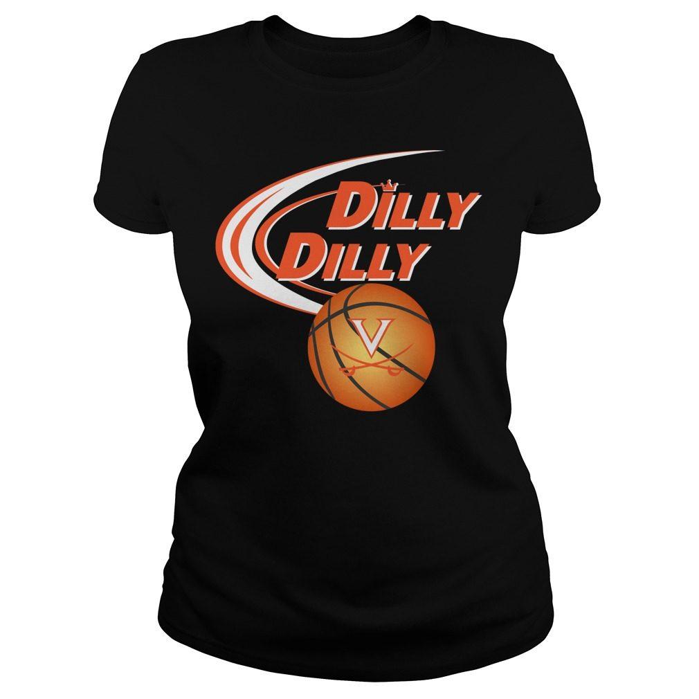 Dilly Dilly Virginia Ncaa Basketball Ladies Tee