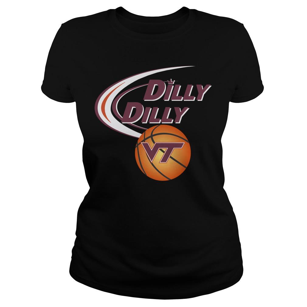 Dilly Dilly Virginia Tech Ncaa Basketball Ladies Tee