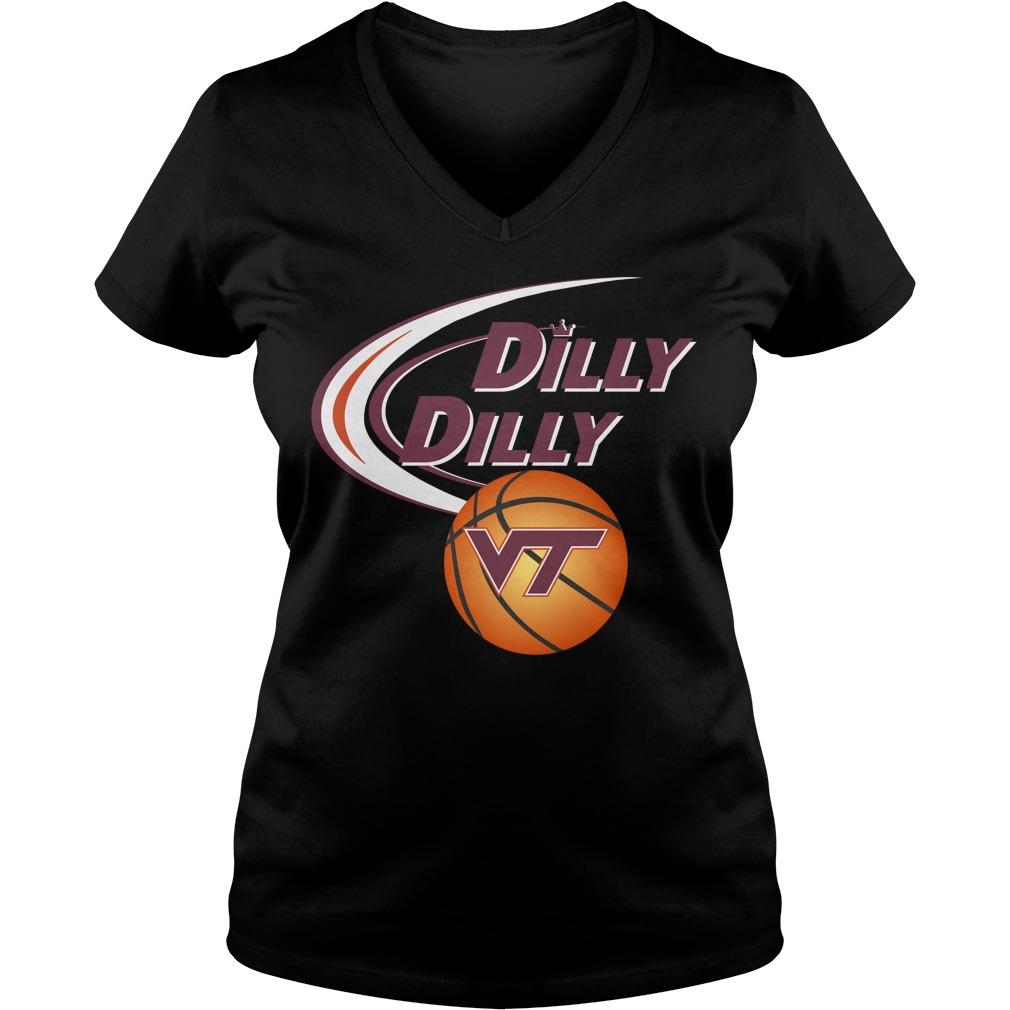 Dilly Dilly Virginia Tech Ncaa Basketball V Neck T Shirt