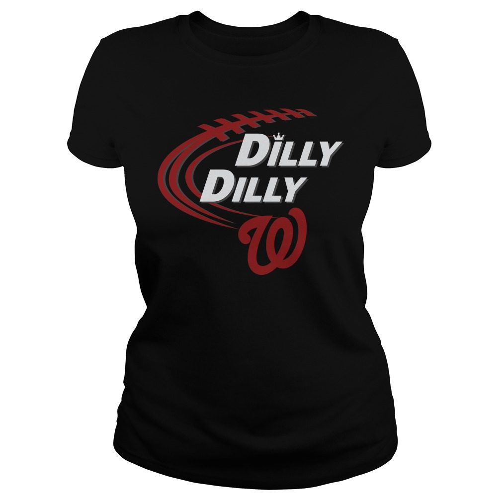 Dilly Dilly Washington Nationals Bud Light Mlb Baseball Ladies Tee