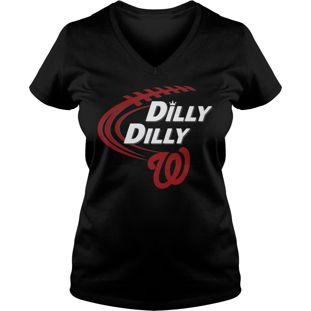 Dilly Dilly Washington Nationals Bud Light Mlb Baseball V Neck T Shirt