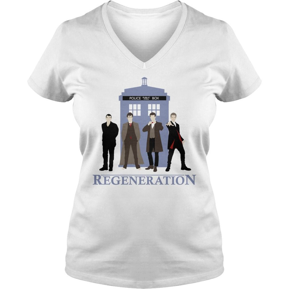 Doctor Regeneration Printed V Neck T Shirt