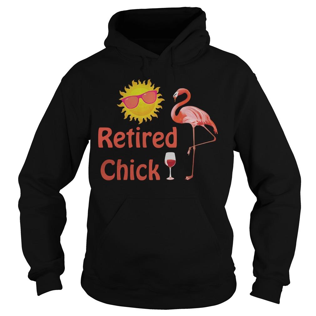 Flamingo Retired Chick Happy Sunshine Hoodie