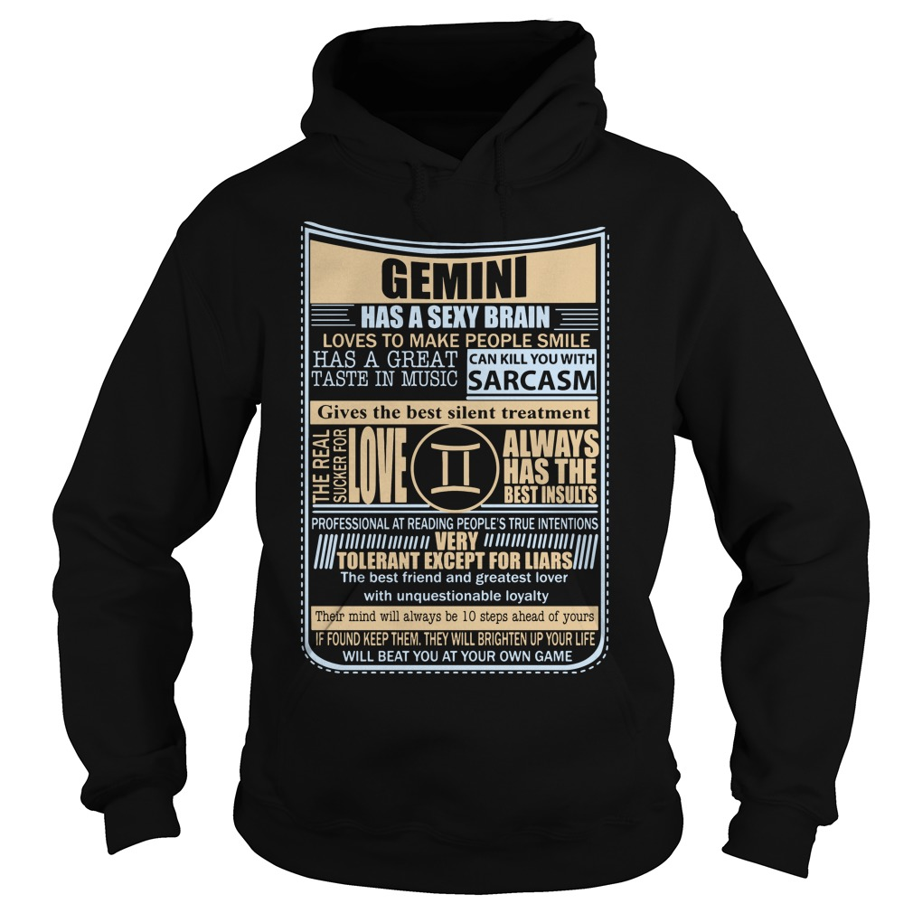 Gemini Sexy Brain Love Make People Smile Hoodie