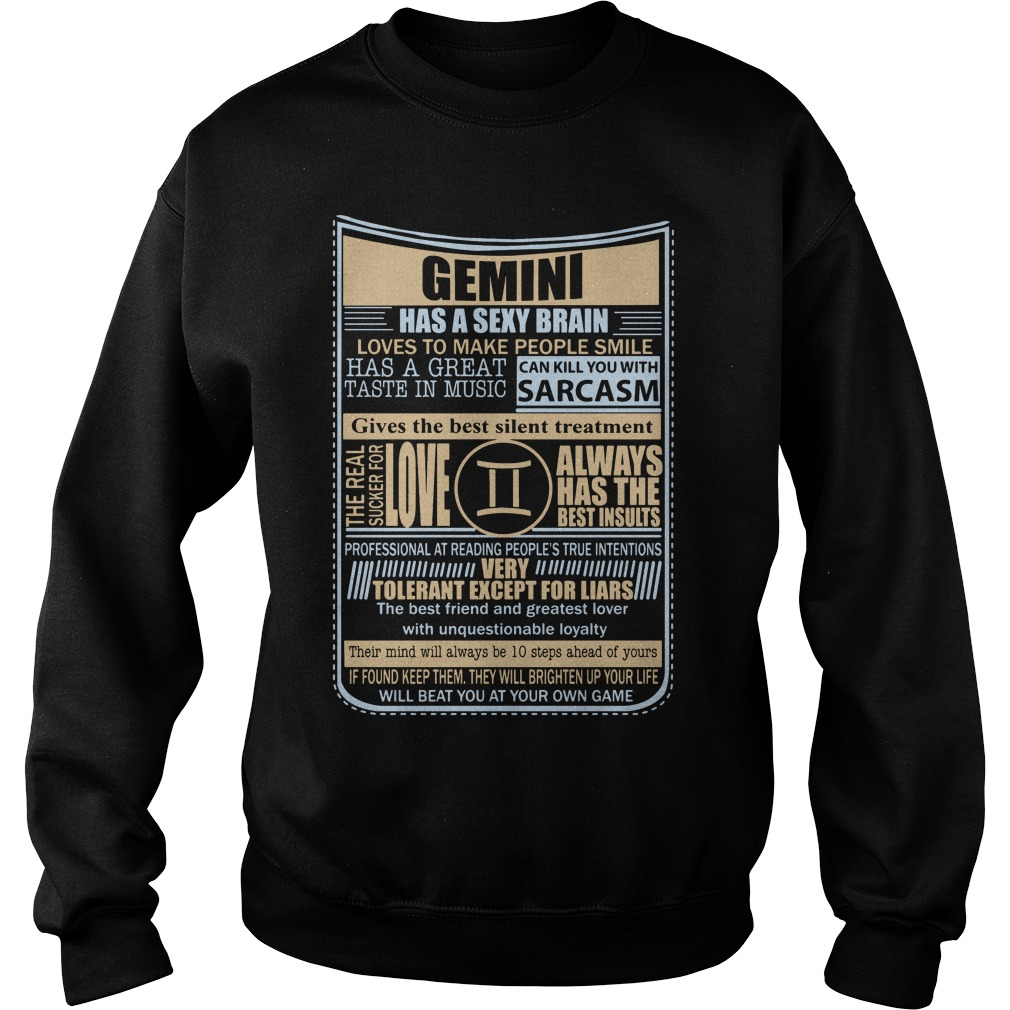 Gemini Sexy Brain Love Make People Smile Sweater