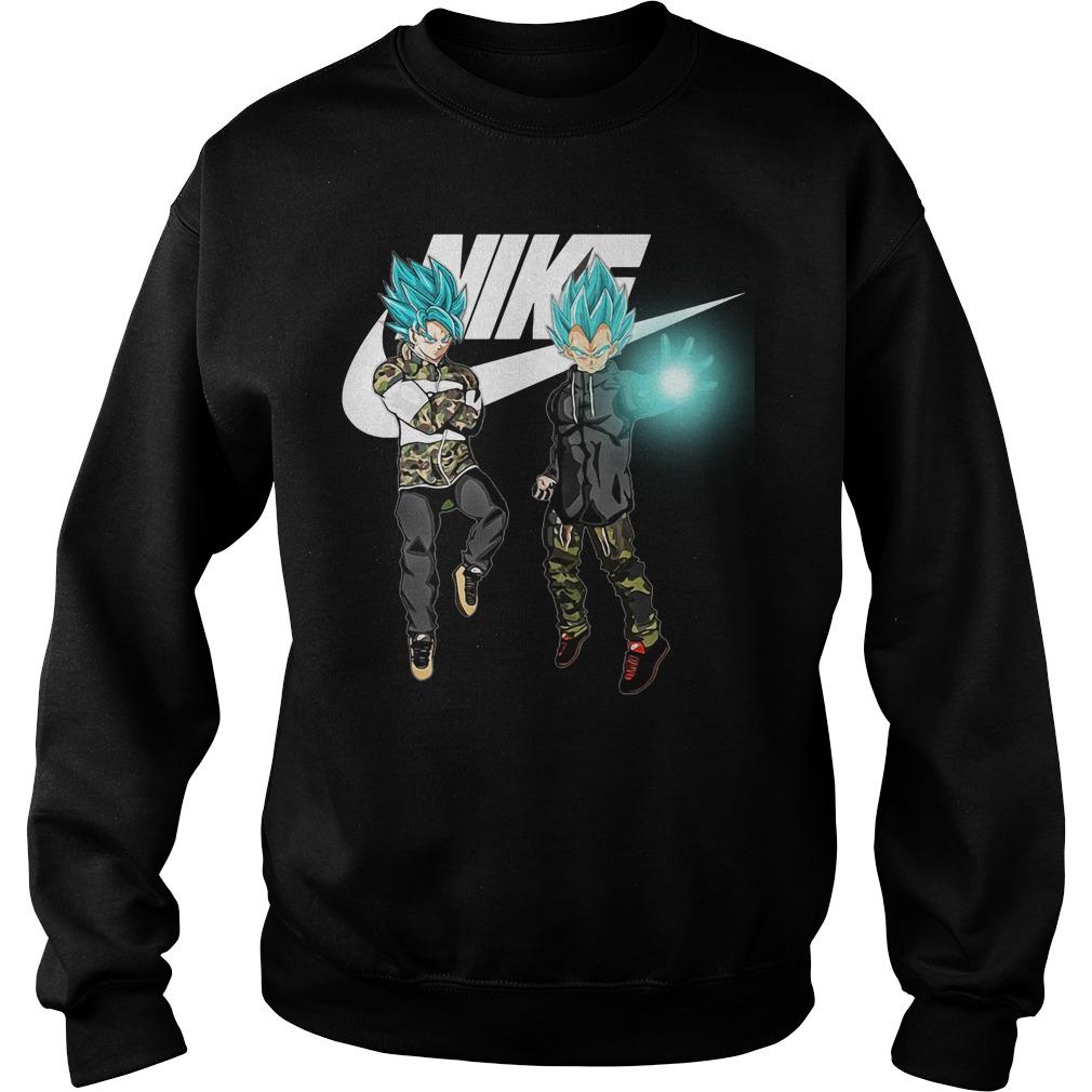 Goku Vegeta Super Saiyan Blue Nike Sweater