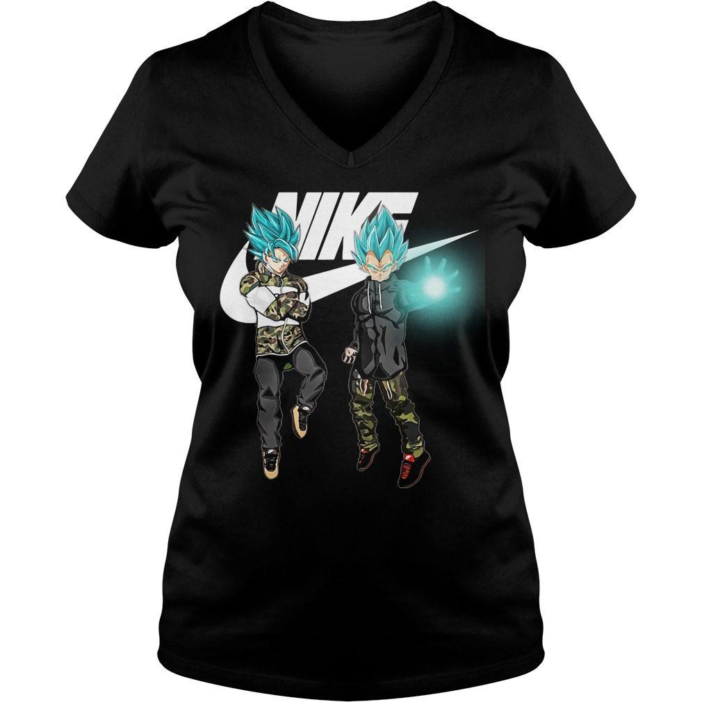 Goku Vegeta Super Saiyan Blue Nike V Neck T Shirt