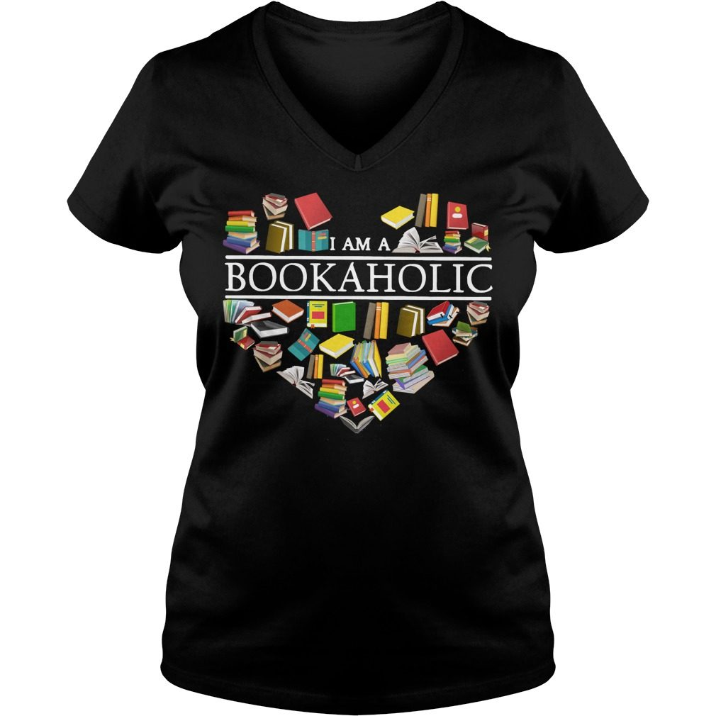 I Am A Bookaholic V Neck T Shirt