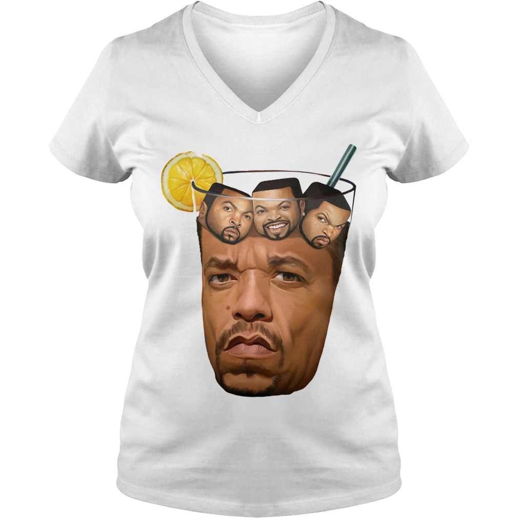 Ice Tea Ice Cube V Neck T Shirt