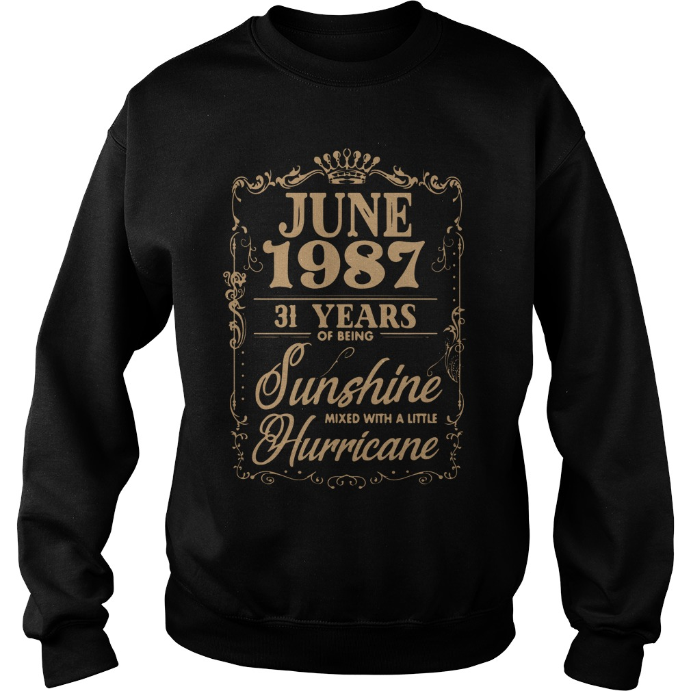 June 1987 31 Years Sunshine Mixed Little Hurricane Sweater