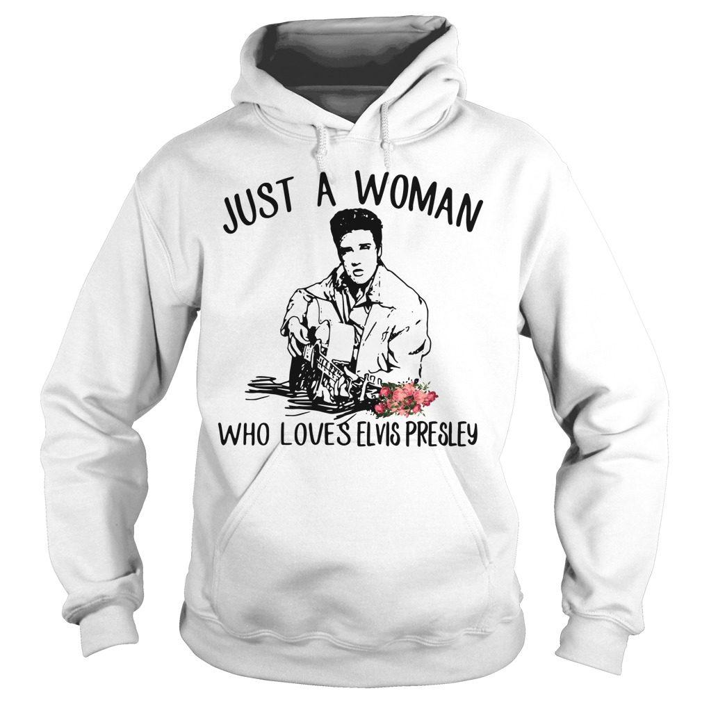 Just Woman Loves Elvis Presley Hoodie