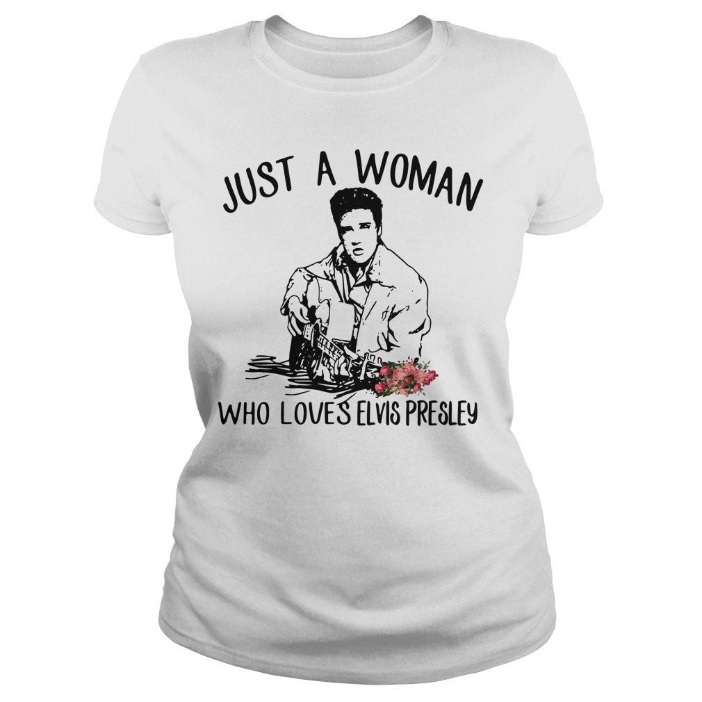 Just Woman Loves Elvis Presley Ladies Tee