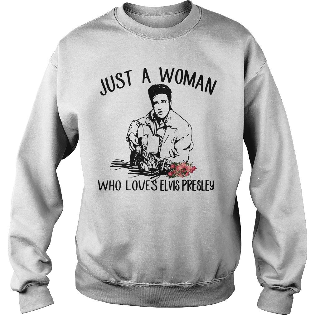 Just Woman Loves Elvis Presley Sweater