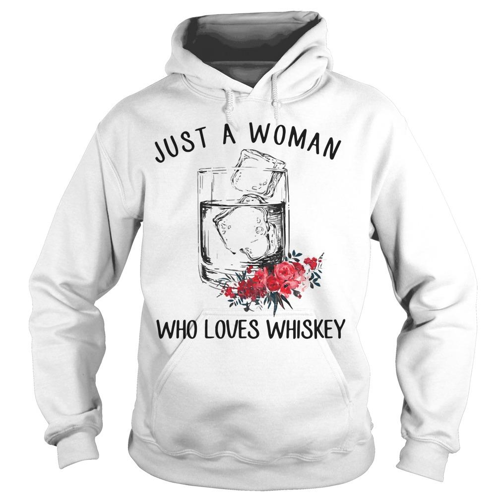 Just Woman Loves Whiskey Hoodie