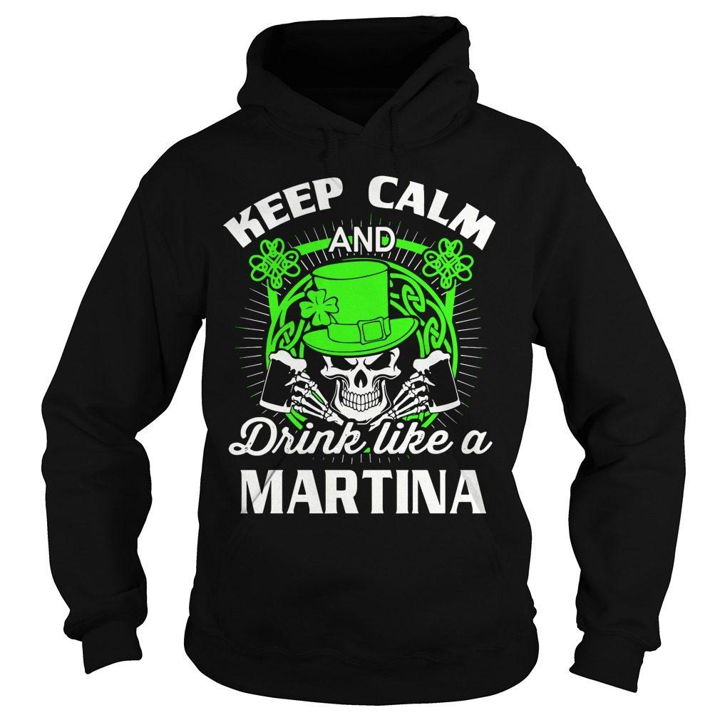 Keep Calm Drink Like Martian St Patricks Day Hoodie