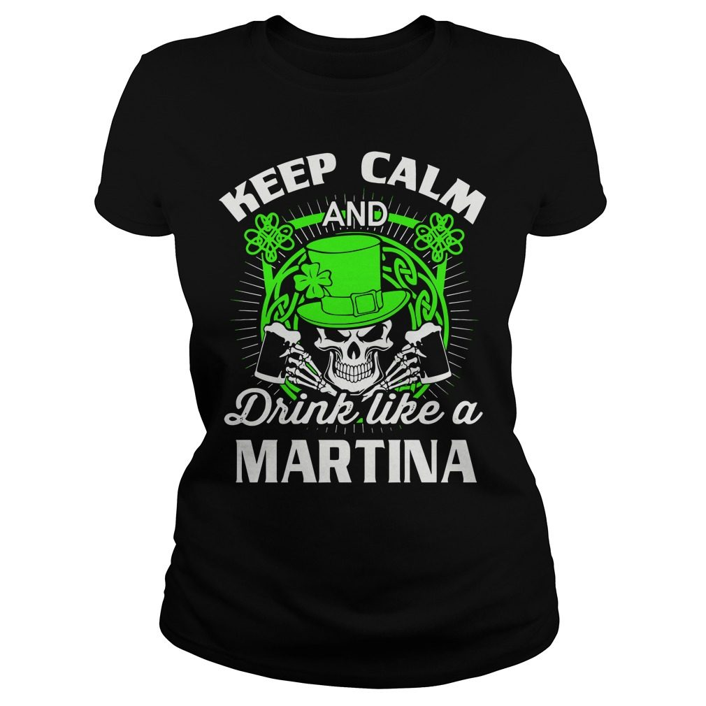 Keep Calm Drink Like Martian St Patricks Day Ladies Tee