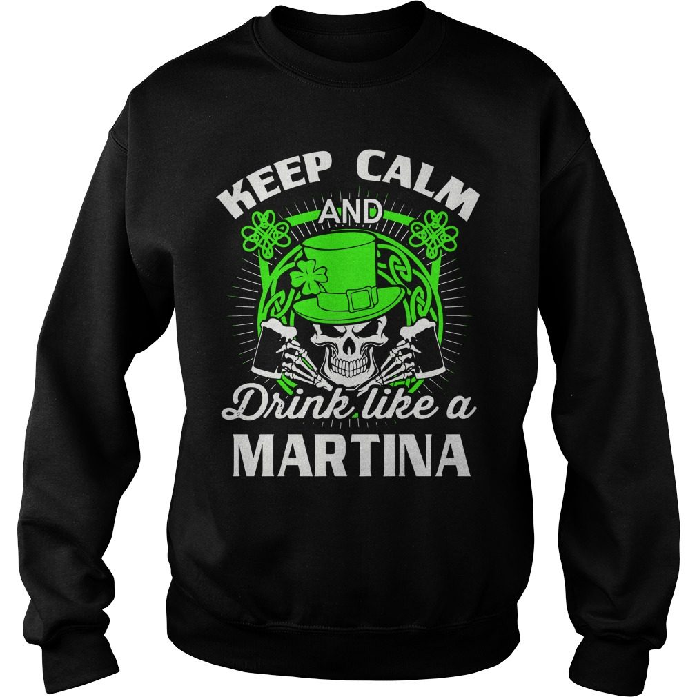 Keep Calm Drink Like Martian St Patricks Day Sweater