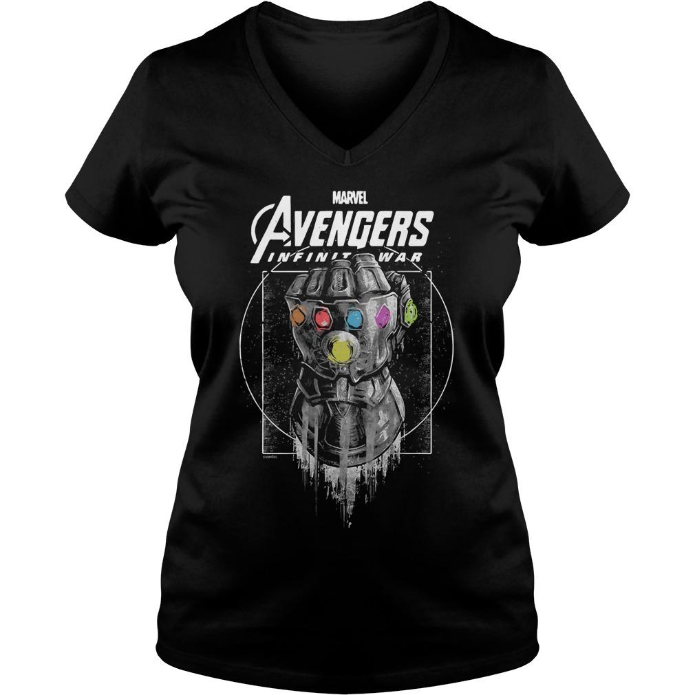 Marvel Avengers Infinity War Gauntlet V Neck T Shirt