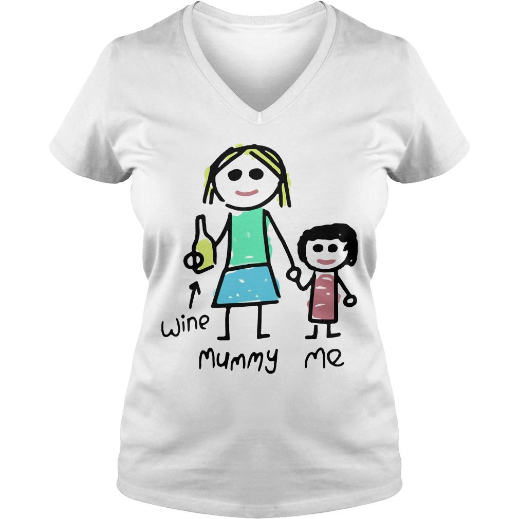 Mummy Womens V Neck T Shirt