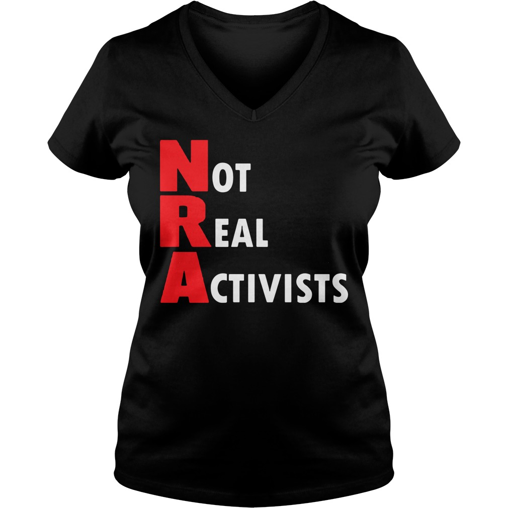 Not Real Activists V Neck T Shirt
