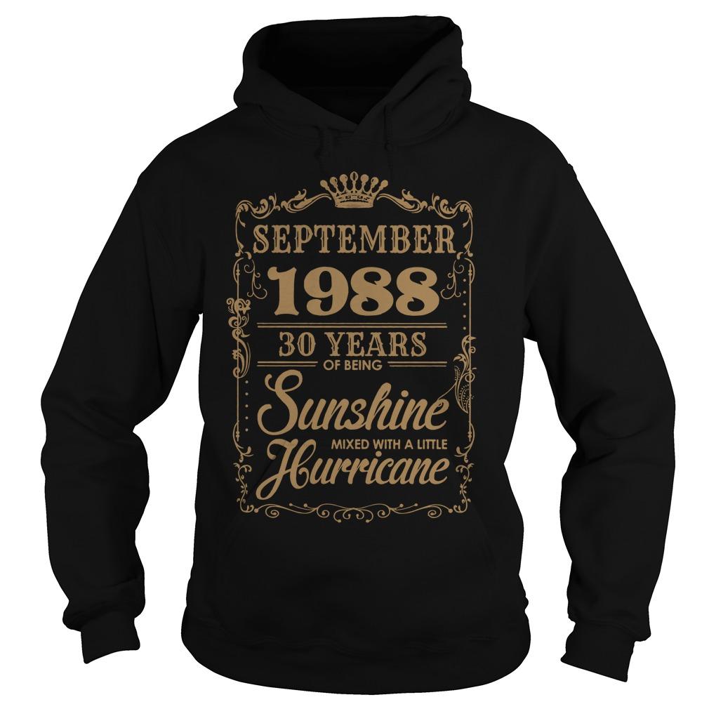 September 1988 30 Years Sunshine Mixed Little Hurricane Hoodie