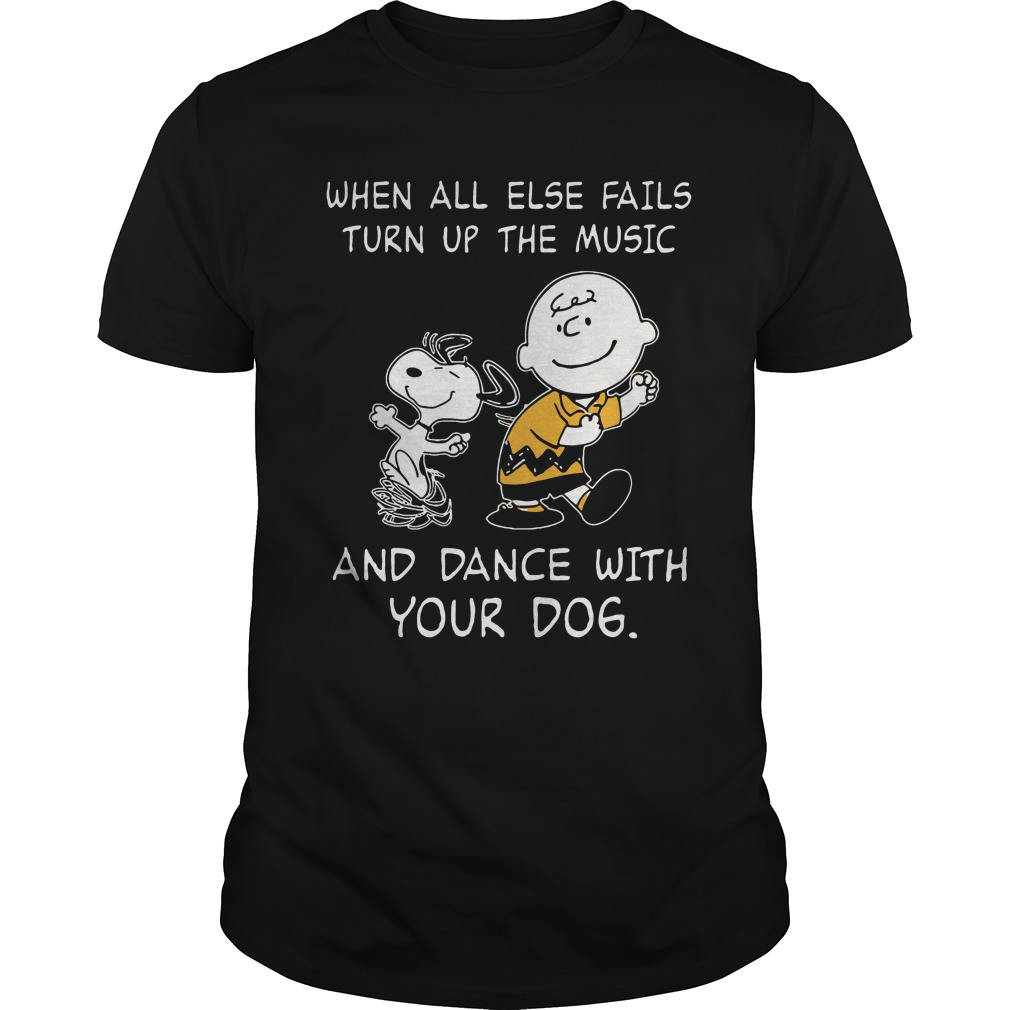 Snoopy Else Fails Turn Music Dance Dog Shirt