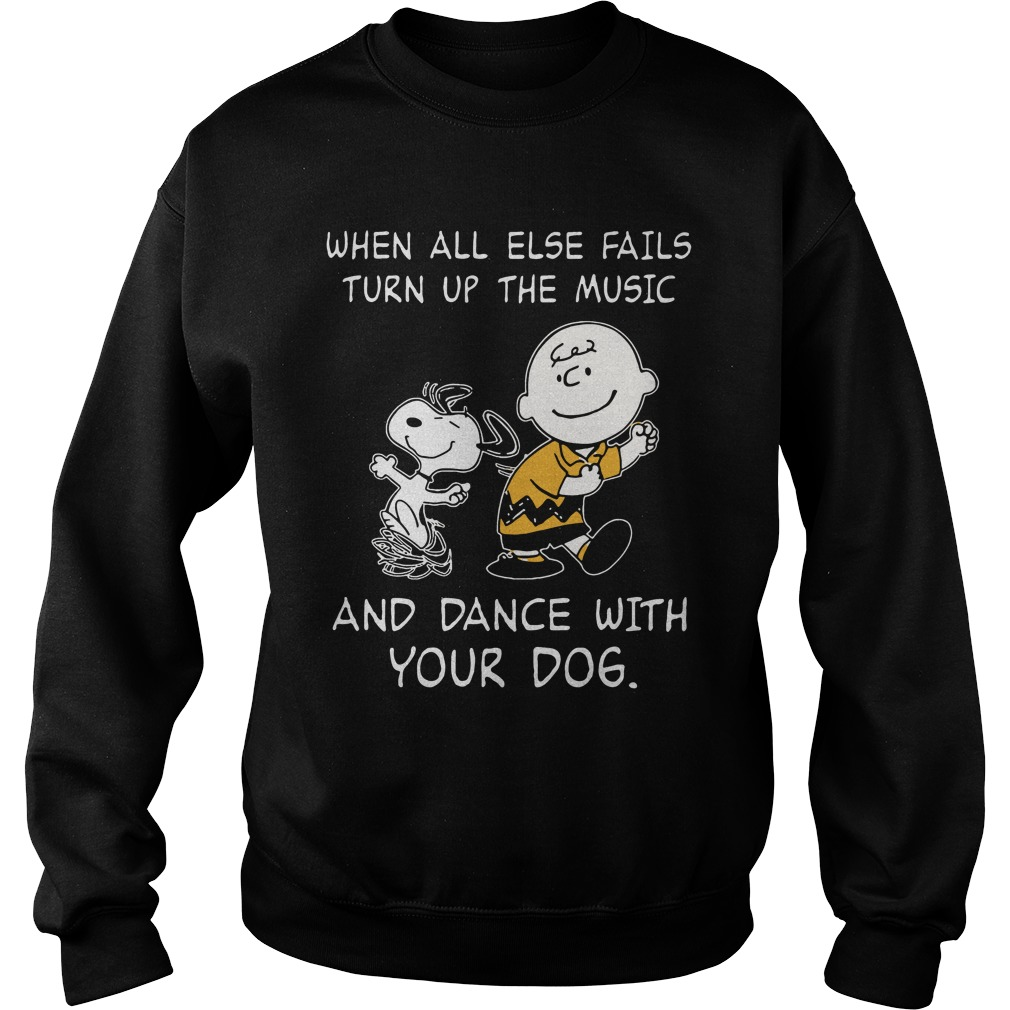 Snoopy Else Fails Turn Music Dance Dog Sweater