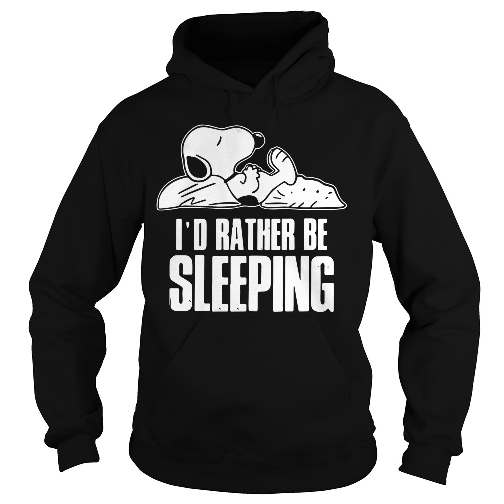 Snoopy Id Rather Sleeping Hoodie