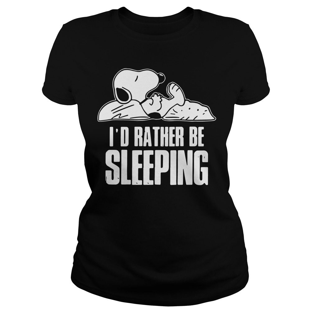 Snoopy Id Rather Sleeping Ladies Tee