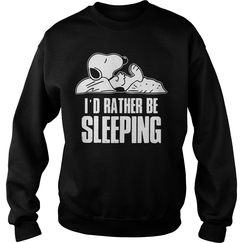 Snoopy Id Rather Sleeping Sweater
