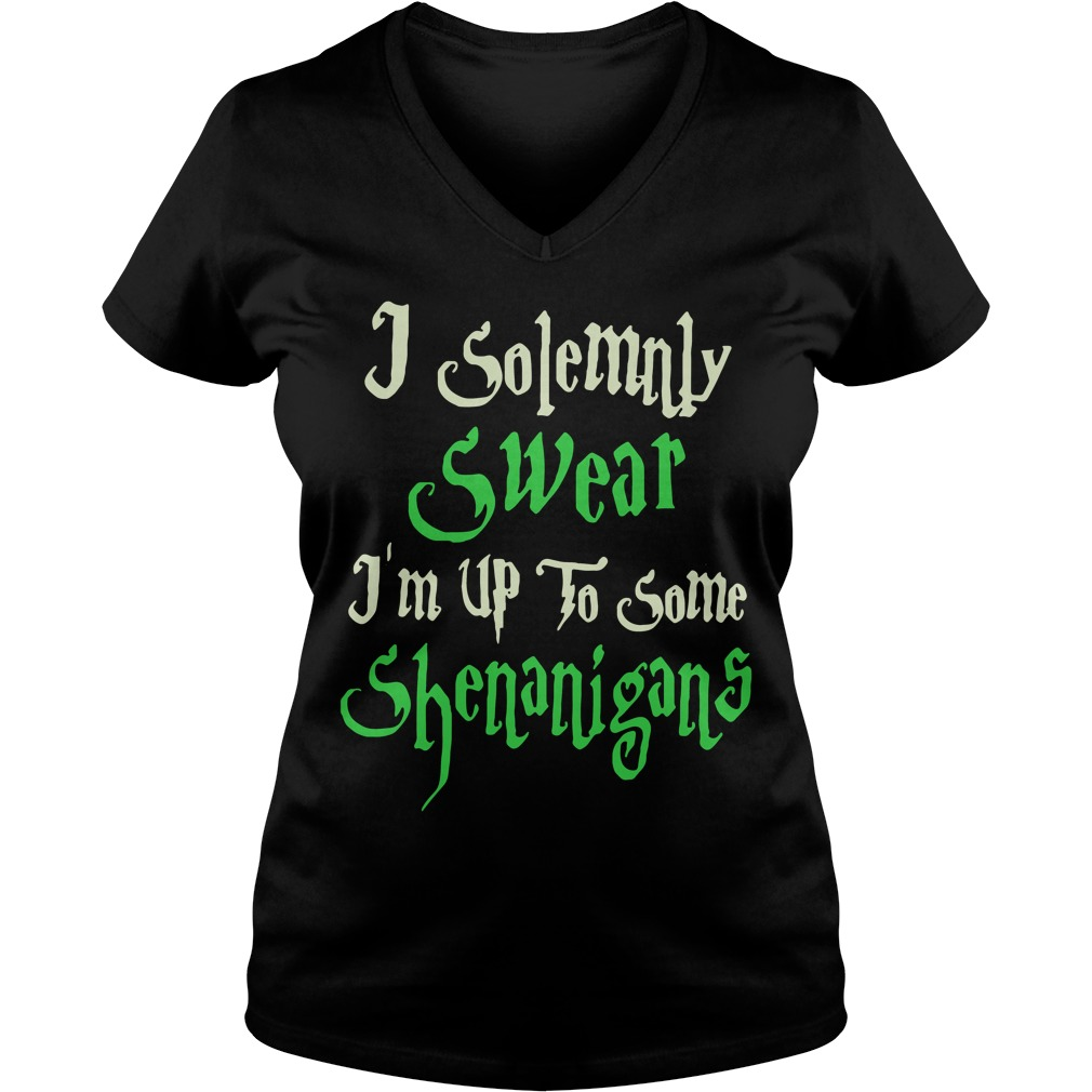 Solemnly Swear Im Shenanigans V Neck T Shirt