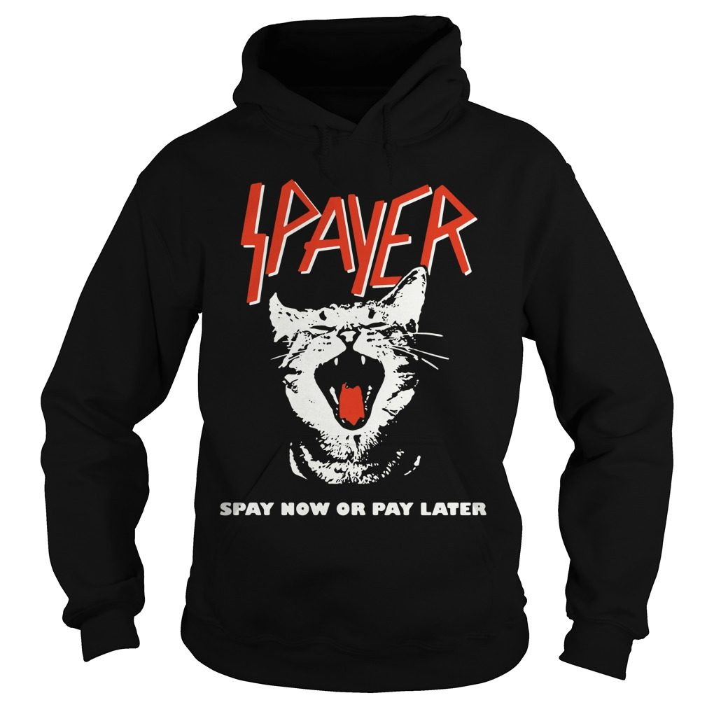 Spayer Spay Now Pay Later Hoodie