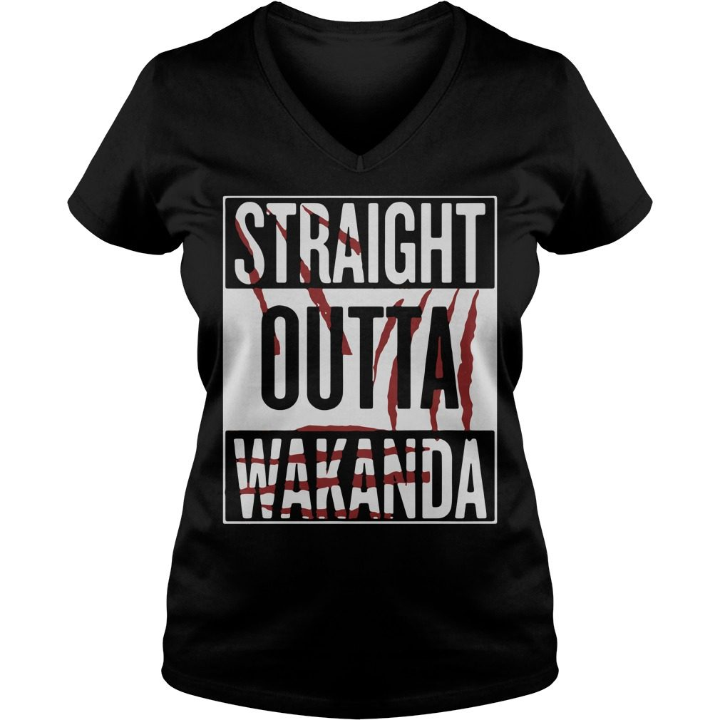 Straight Outta Wakanda V Neck T Shirt