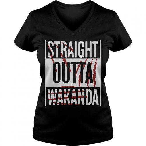 Straight Outta Wakanda V Neck T Shirt