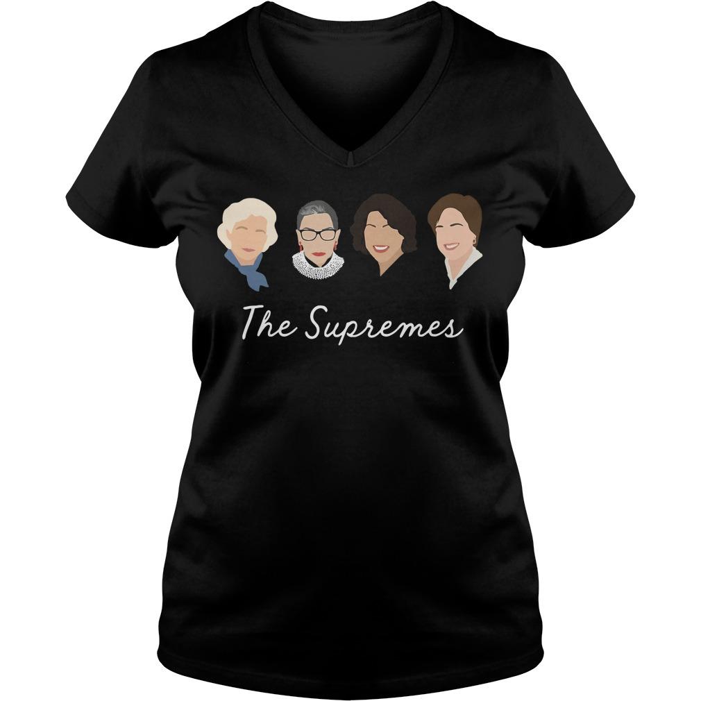Supremes Sandra Day Oconnor Ruth Bader V Neck T Shirt