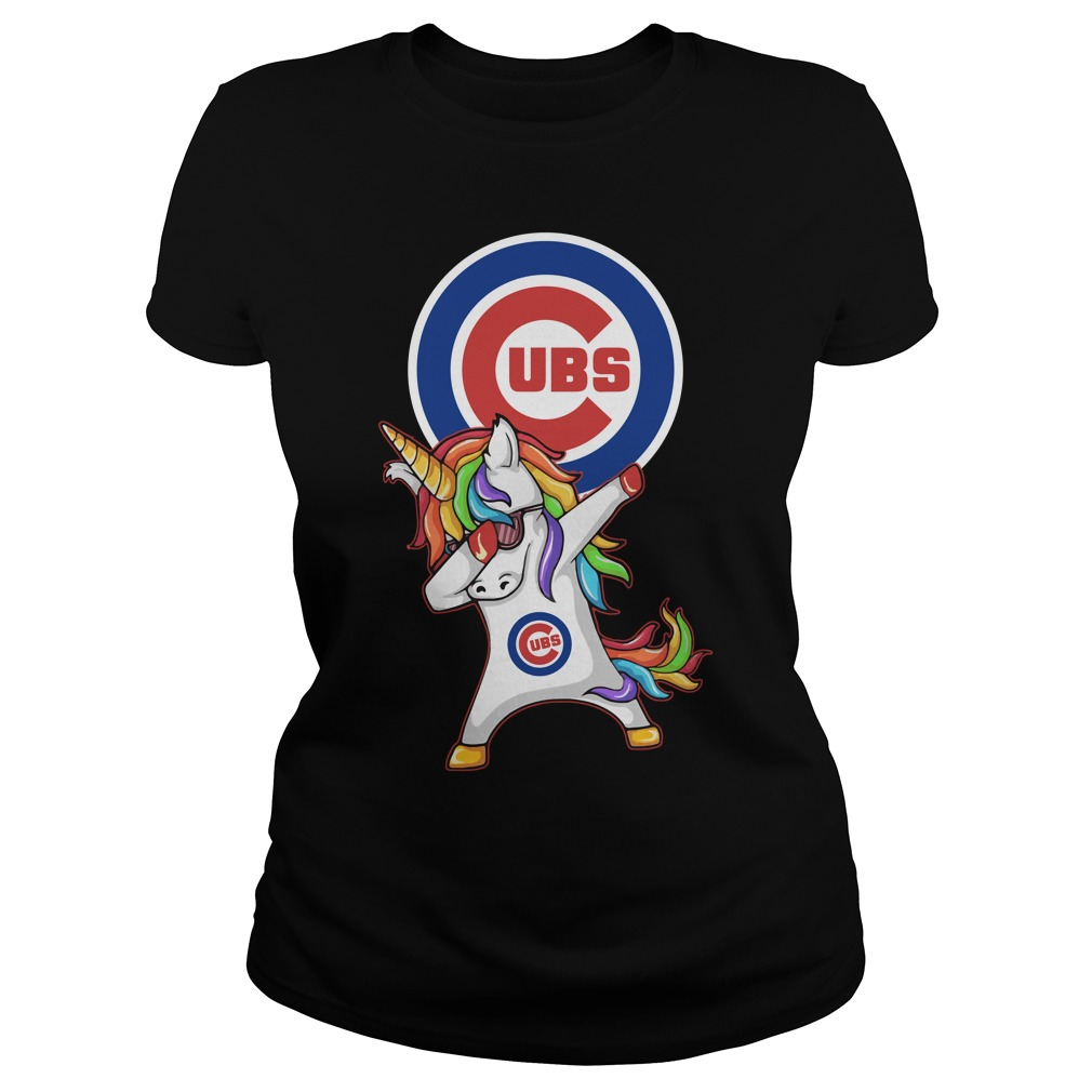 Ubs Chicago Cubs Unicorn Dabbing Ladies Tee