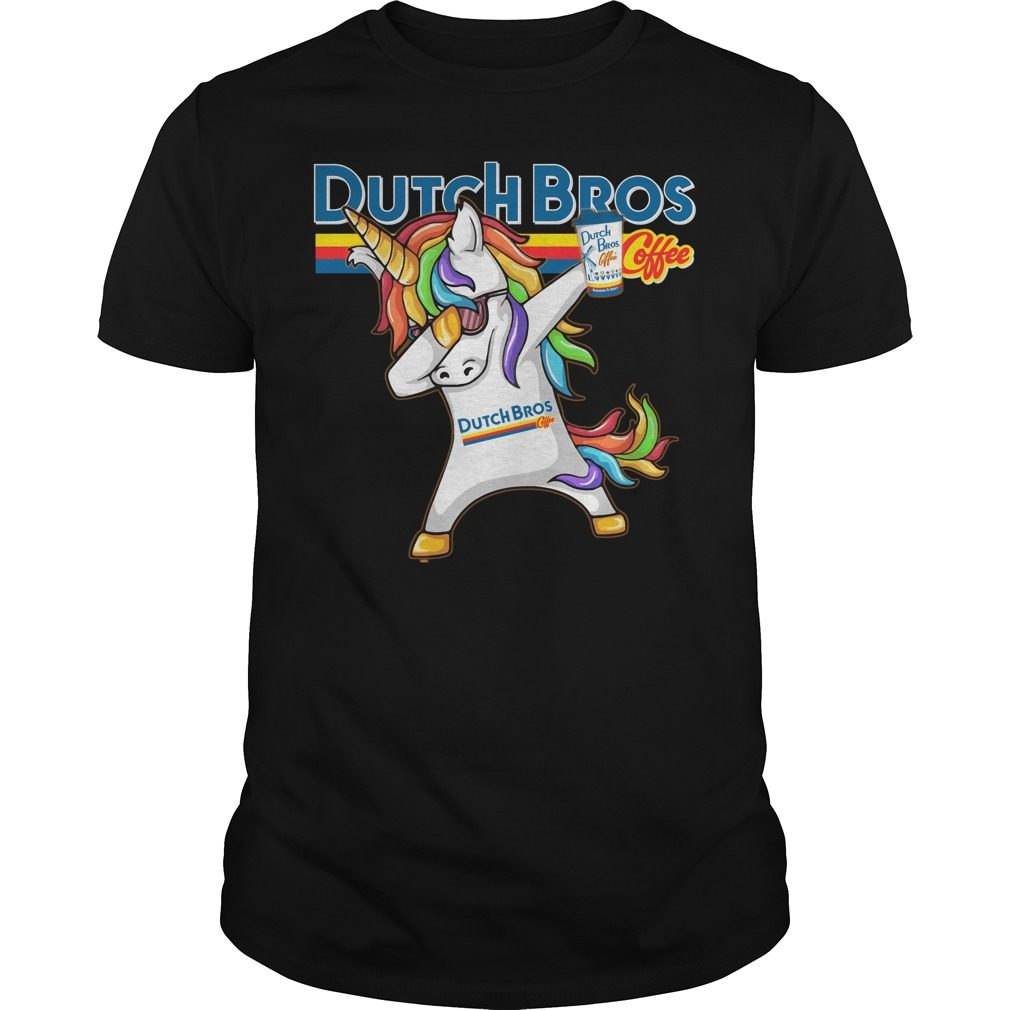 Unicorn Dabbing Dutch Bros Coffee Shirt
