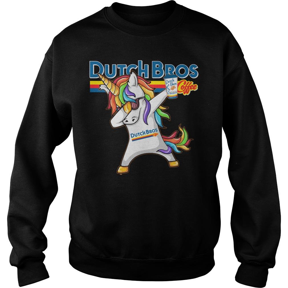 Unicorn Dabbing Dutch Bros Coffee Sweater