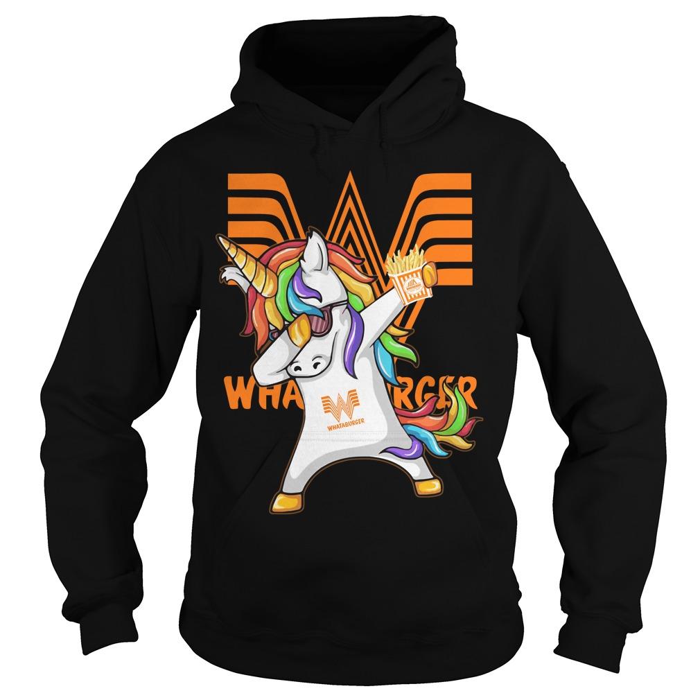 Unicorn Dabbing Whataburger Hoodie
