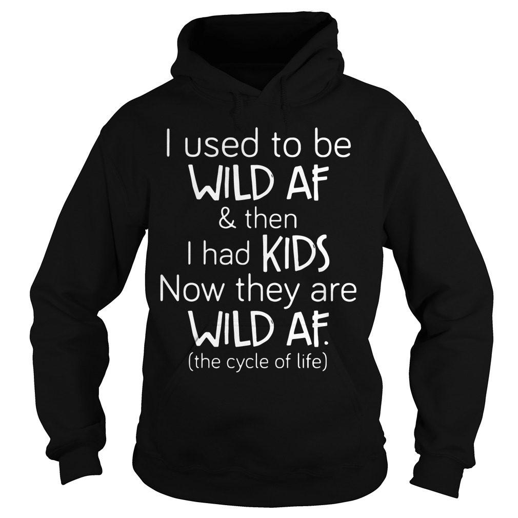 Used Wild Af Kids Hoodie