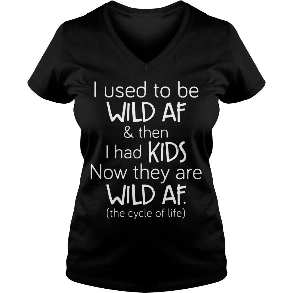 Used Wild Af Kids V Neck T Shirt