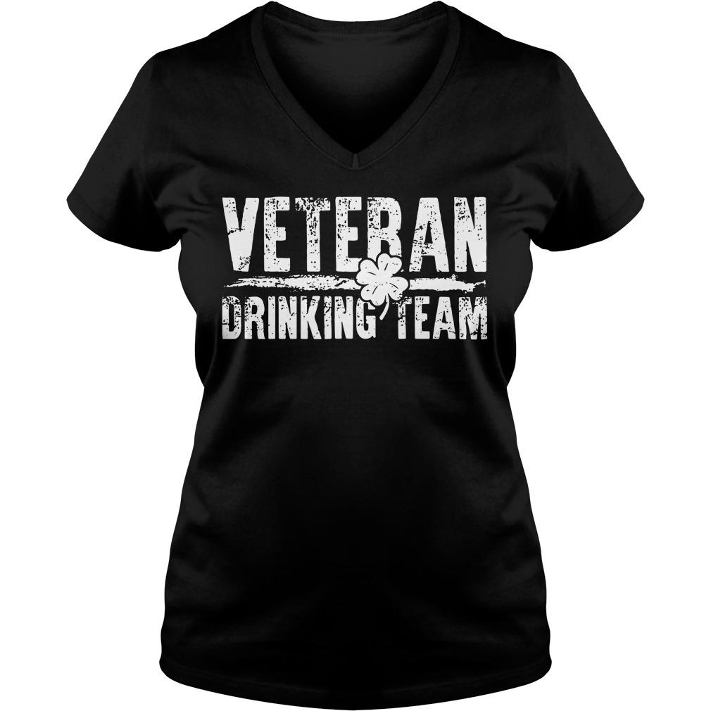 Veteran Drinking Team V Neck T Shirt