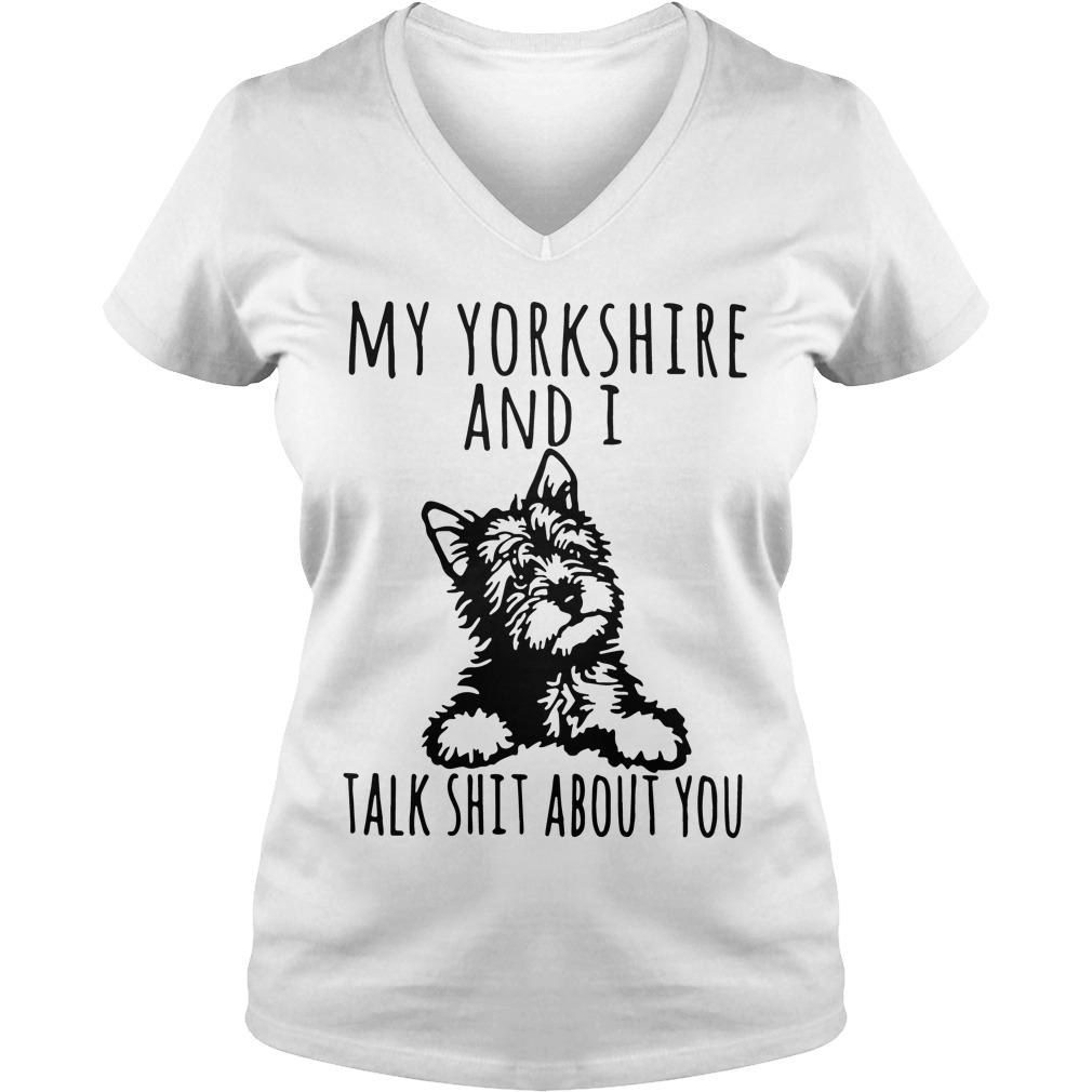 Yorkshire Talk Shit V Neck T Shirt