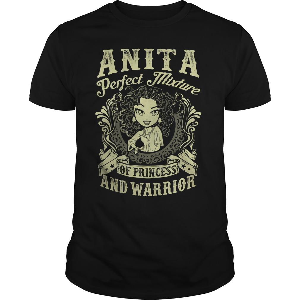 Anita Perfect Mixture Princess Warrior Guys Shirt