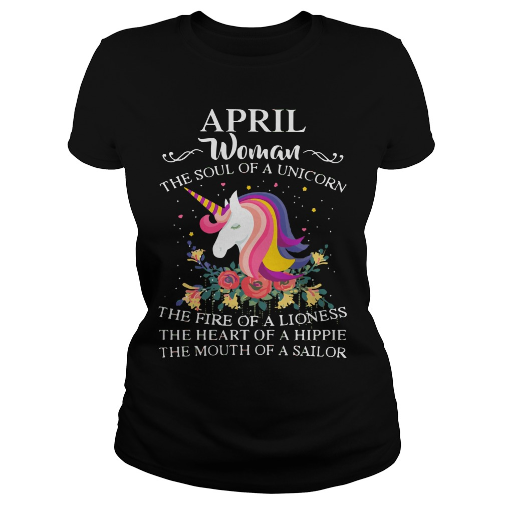 April Woman Soul Unicorn Ladies Tee
