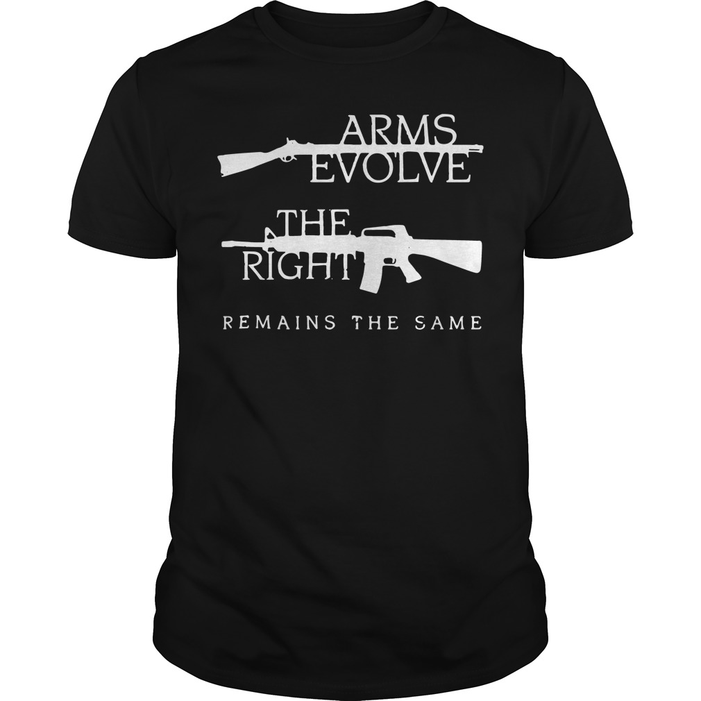 Arms Evolve Right Remains Guys Shirt